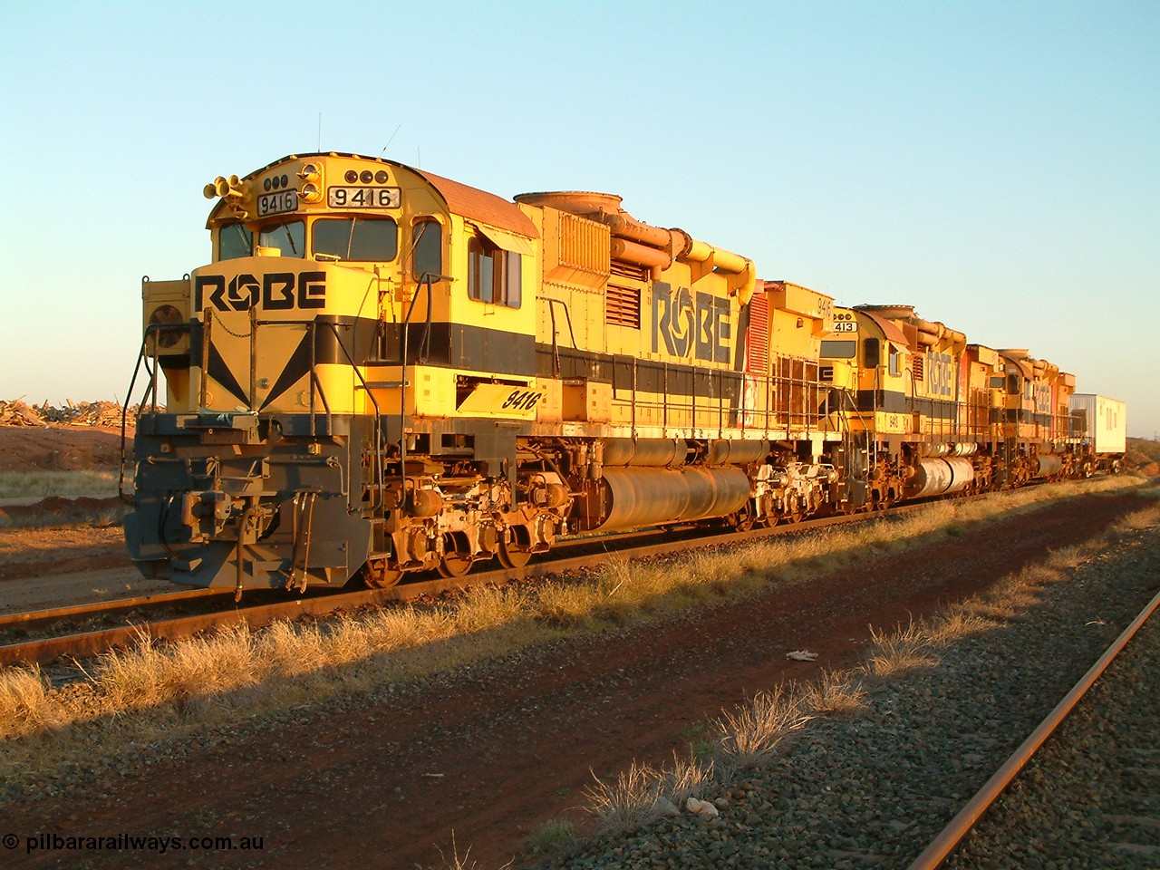 15 years ago, stored Robe River ALCo M636 units.